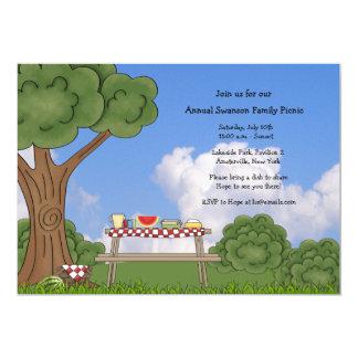 Convite do piquenique do verão