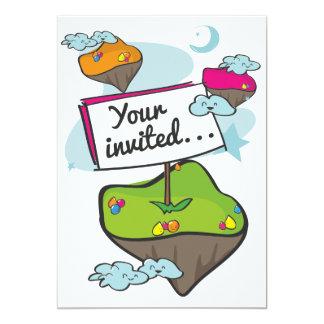 Convite do planeta dos desenhos animados convite 12.7 x 17.78cm