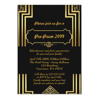 Convite do Pre-Baile de formatura, Pre-Baile de