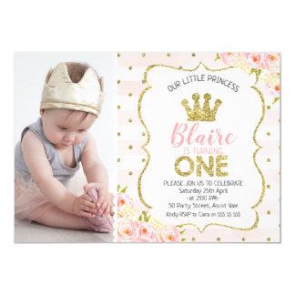 Convite do primeiro aniversario da princesa Coroa