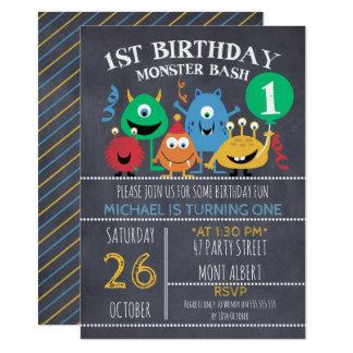 Convite do primeiro aniversario dos monstro do