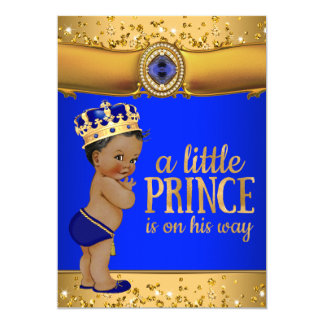 Convite do príncipe chá de fraldas do ouro dos