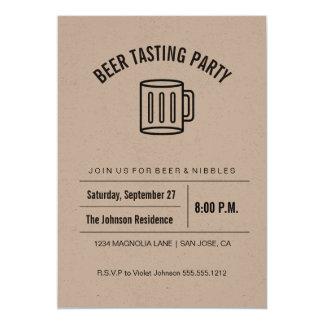 Convite do provando da cerveja da coleção de Kraft