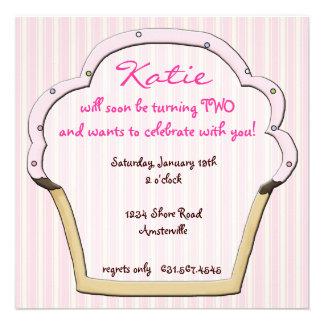 Convite do quadro do cupcake