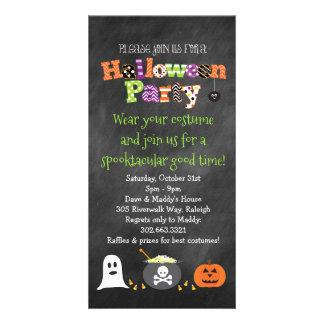 Convite do quadro do partido de Spooktacular o Dia Cartão Com Foto
