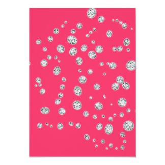 Convite do rosa Pastel Convite 12.7 X 17.78cm