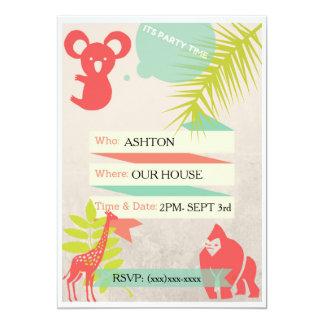 Convite do safari