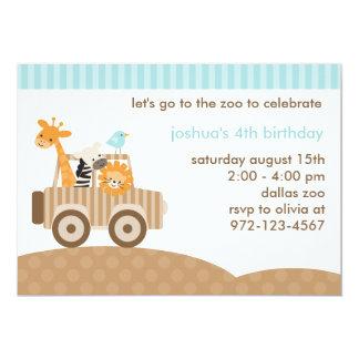 Convite do safari do jardim zoológico