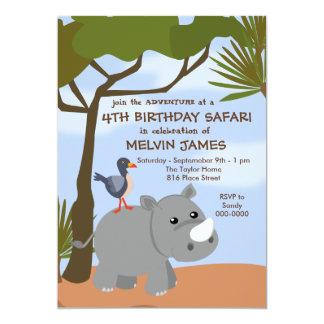Convite do safari do rinoceronte