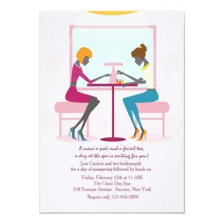 Convite do salão de beleza do prego convite 12.7 x 17.78cm