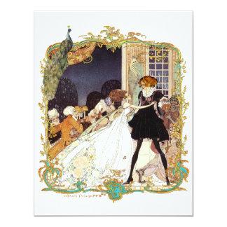 Convite do século XVIII da bola do casamento/traje