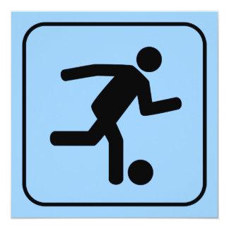 Convite do símbolo do futebol do futebol