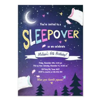 Convite do Sleepover dos pijamas do partido de