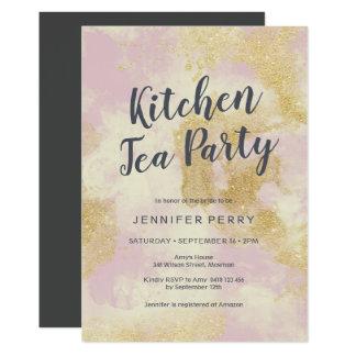 Convite do tea party da cozinha - brilho