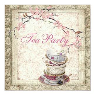 Convite do tea party do chá de panela do país da
