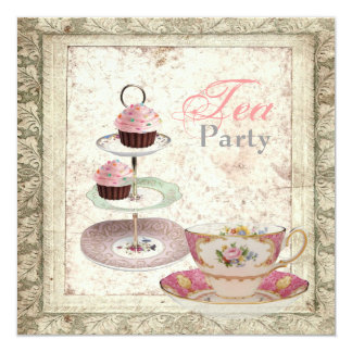Convite do tea party do chá de panela do país de