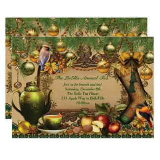 Convite do tea party do feriado do Natal