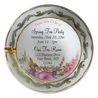 Convite do tea party do Teacup