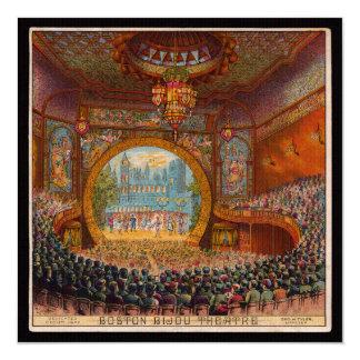 Convite do teatro da joia de Boston