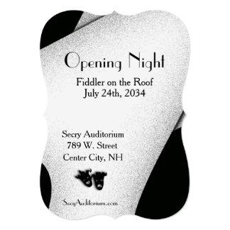 Convite do teatro da noite da inauguração