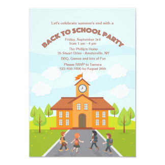 Convite do tempo da escola