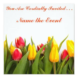 Convite do tempo da tulipa