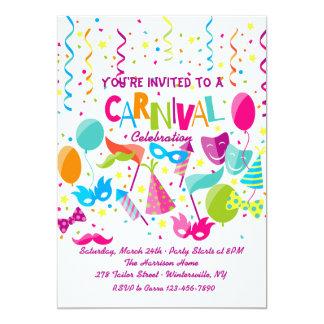 Convite do tempo do carnaval