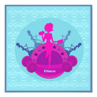 convite do treinamento da menina da malhação convite quadrado 13.35 x 13.35cm