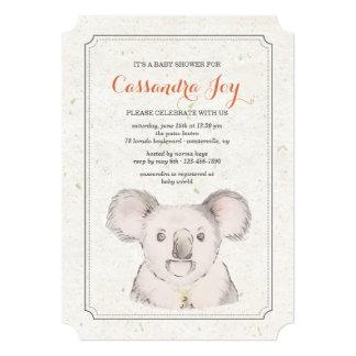 Convite do urso de Koala