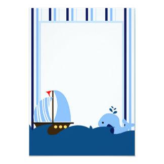 Convite do veleiro & da baleia