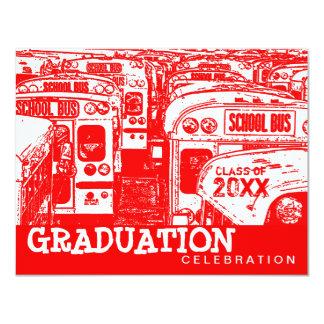 Convite do vermelho do auto escolar da festa de