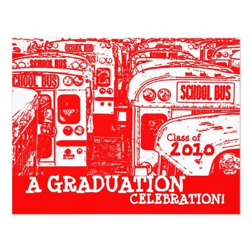 Convite do vermelho do auto escolar da festa de fo