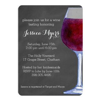 Convite do vinho do quadro