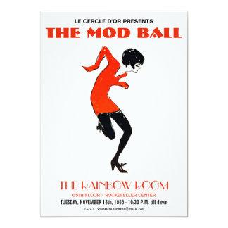 Convite do vintage do dance party dos anos 60 da