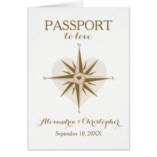Convite dobrado tema do passaporte do viagem