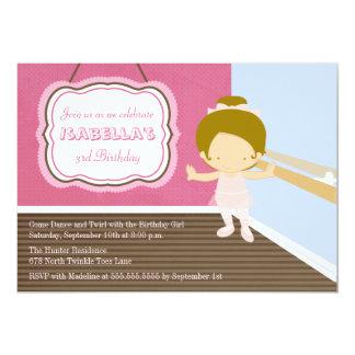 Convite doce da festa de aniversario de meninas da