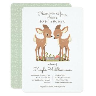 Convite doce do chá de fraldas do gêmeo dos cervos