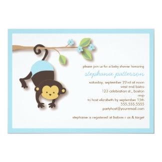 Convite doce do chá de fraldas do menino do macaco