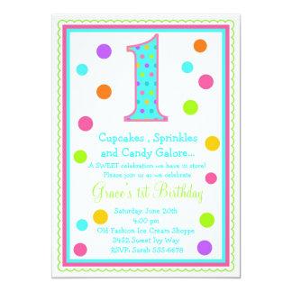 Convite doce do primeiro aniversario da surpresa