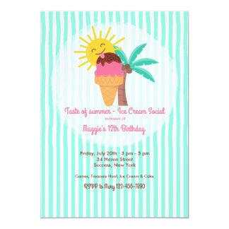 Convite doce do verão
