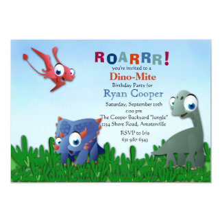 Convite dos amigos do dinossauro