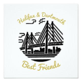 Convite dos botões dos melhores amigos de Halifax
