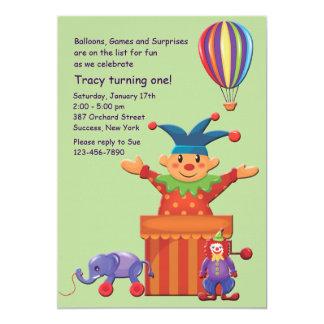 Convite dos brinquedos das crianças