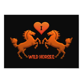 Convite dos cavalos selvagens - personalize!