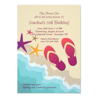 Convite dos chinelos da praia