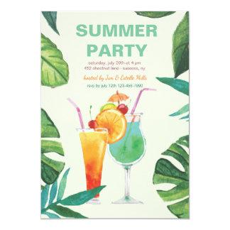Convite dos cocktail do verão