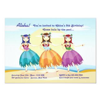 Convite dos dançarinos de Hula