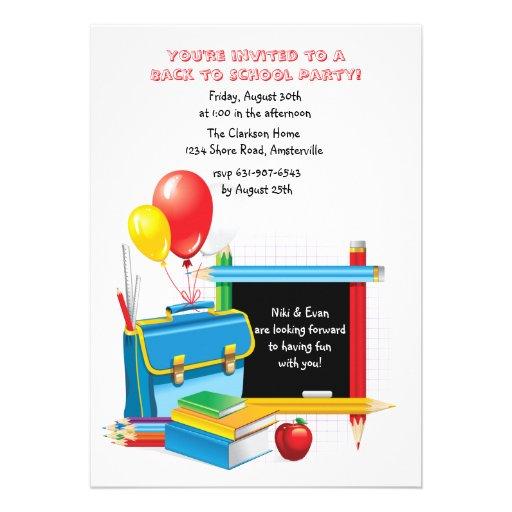 Convite dos dias escolares