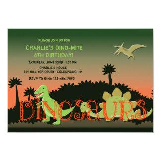 Convite dos dinossauros