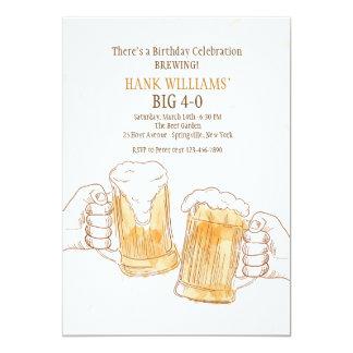 Convite dos elogios da cerveja